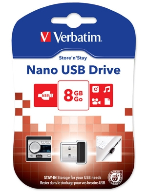 Flash Drive 8GB Verbatim Store N Stay NANO