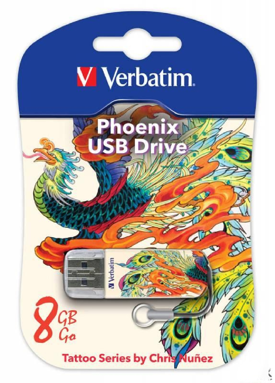Flash Drive 8GB Verbatim Mini Tattoo Edition Phoenix