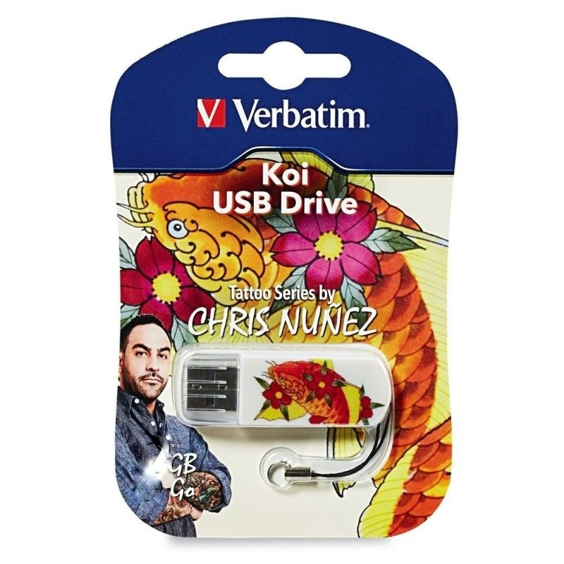 Flash Drive 32GB Verbatim Mini Tattoo KOI FISH