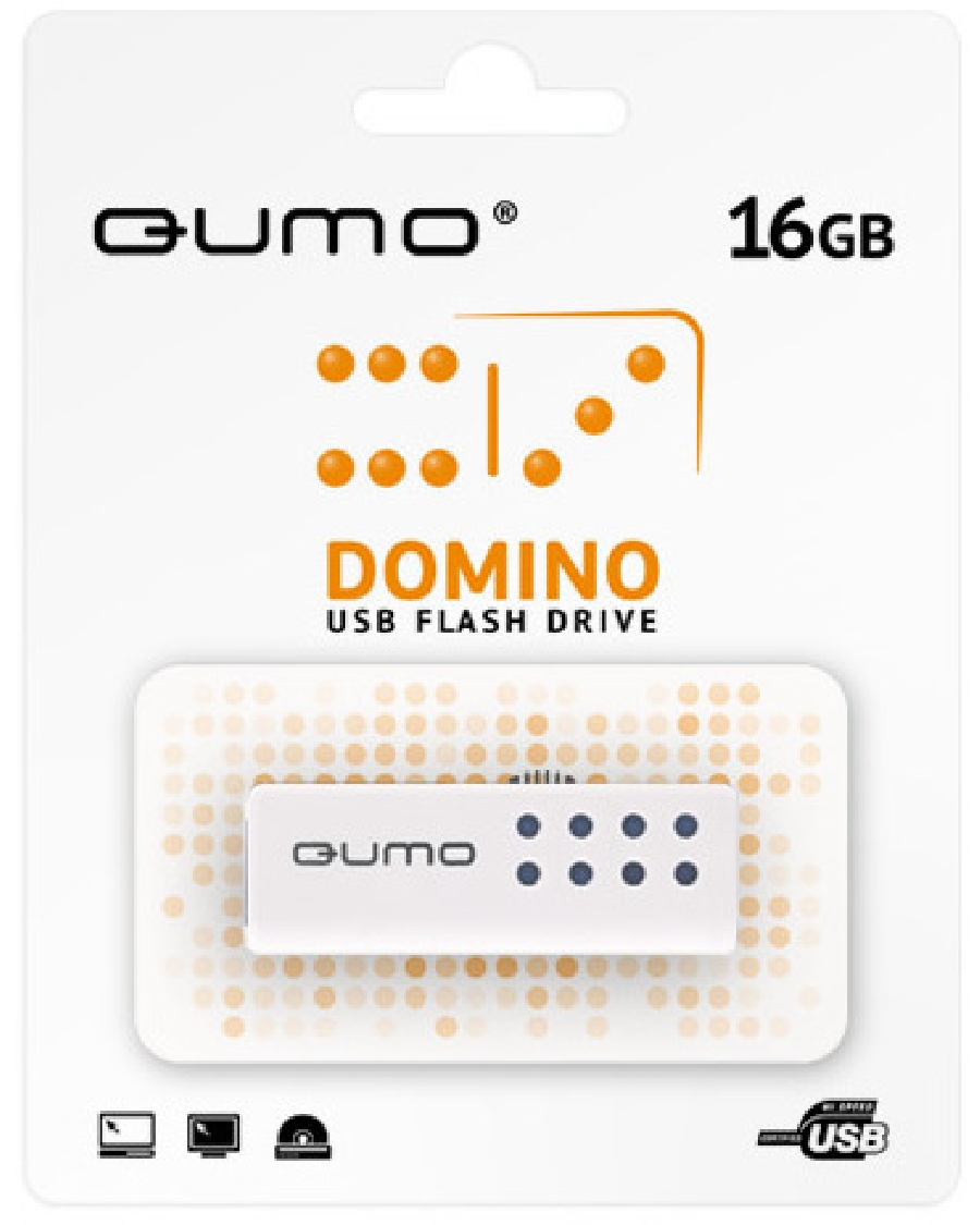 Flash Drive 16GB QUMO Domino-blue