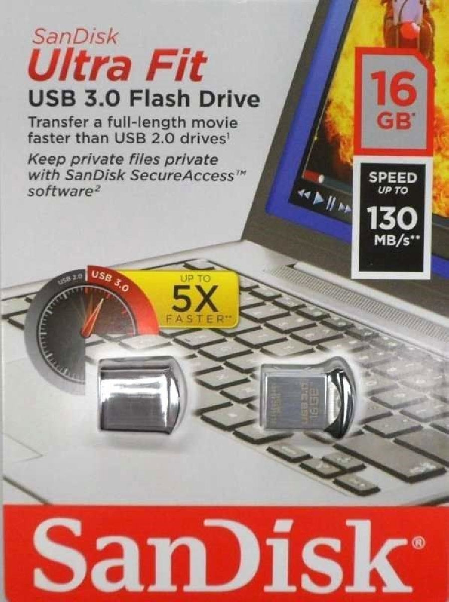 Flash Drive 16GB Sandisk Z43 Cruzer Ultra Fit