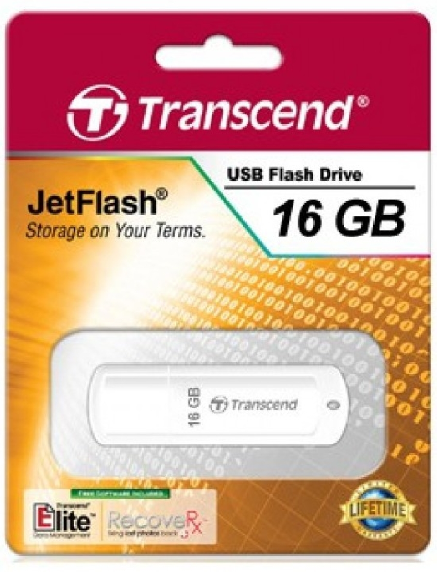 Flash Drive 16GB Transcend 370 White
