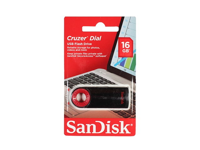 Flash Drive 16GB Sandisk Z57 Cruzer Dial Black