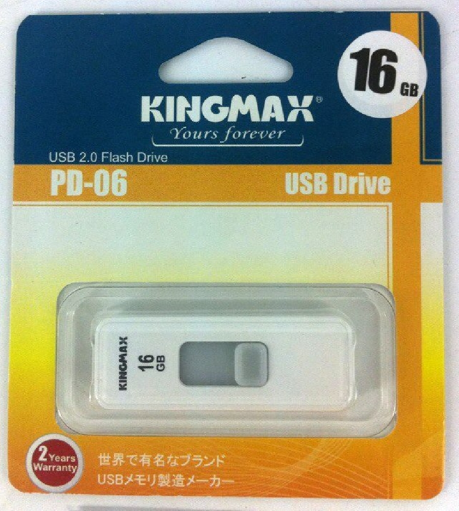 Flash Drive 16GB Kingmax PD-06 white