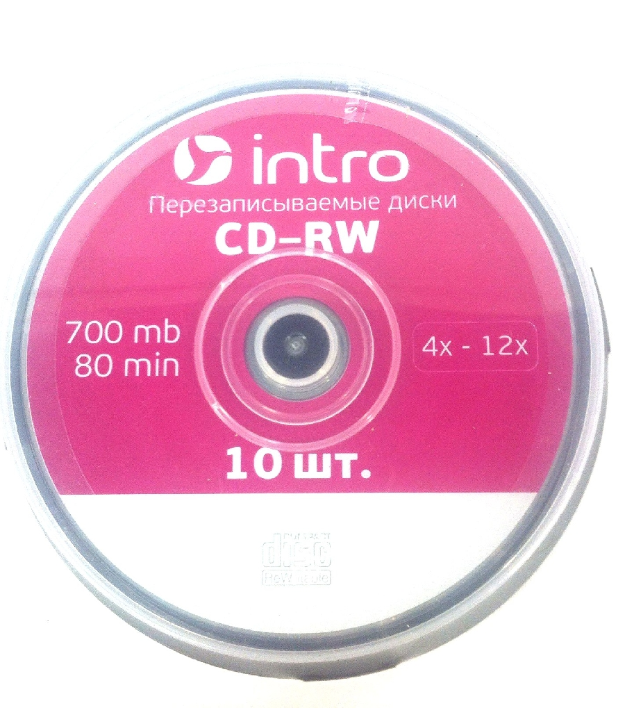 CD-RW  (10) Intro 700mb 12x Cake