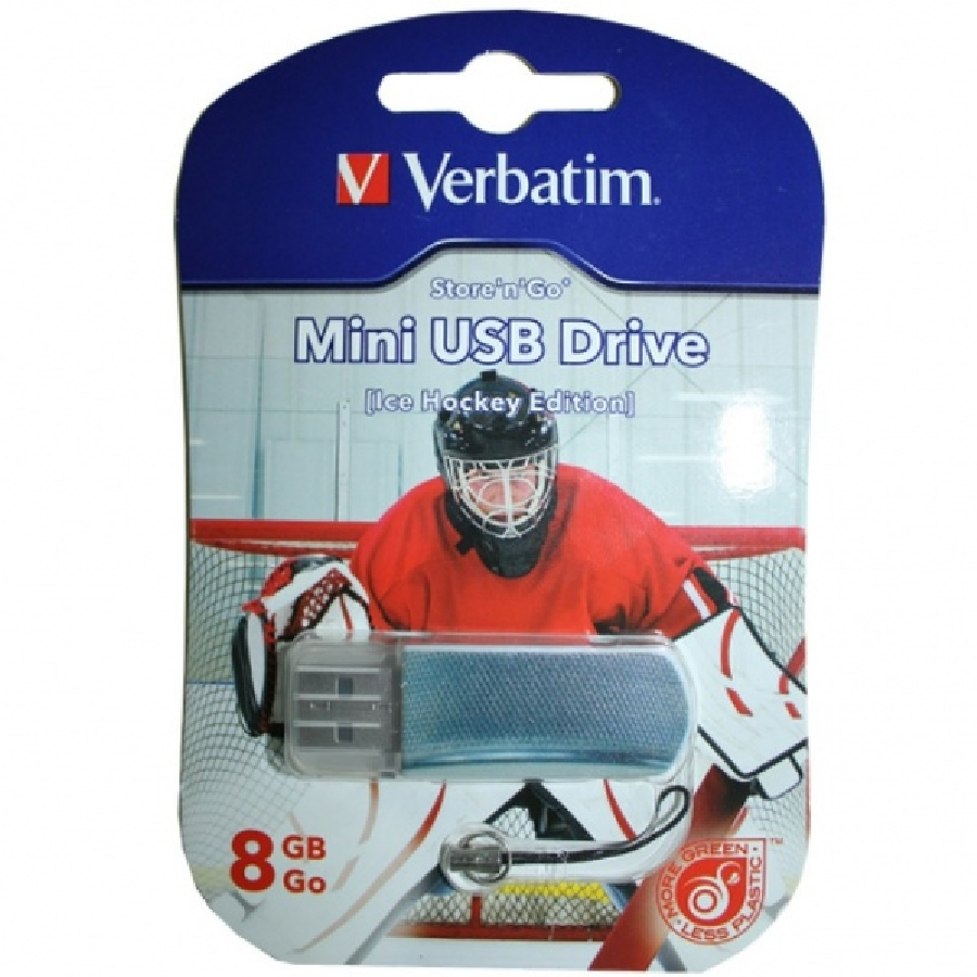 Flash Drive 8GB Verbatim Mini Graffiti Hockey