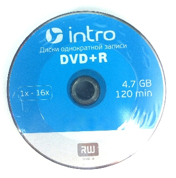 DVD+R  (25) 4.7GB Intro 16x Bulk