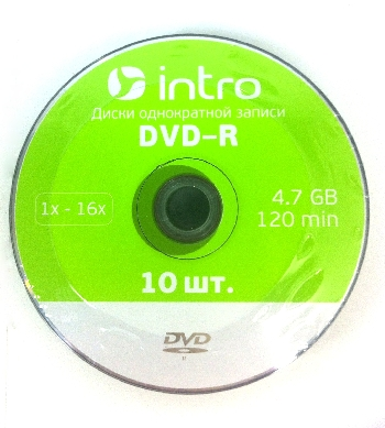DVD-R  (10) 4,7GB Intro 16x shrink