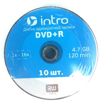 DVD+R  (10) 4.7GB Intro 16x shrink