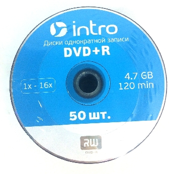 DVD+R  (50) 4.7GB Intro 16x Bulk