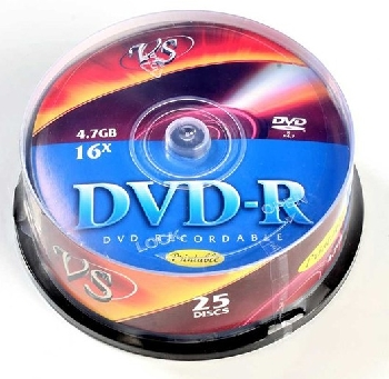 DVD-R  (25) 4.7GB VS 16x Cake INKPRINT