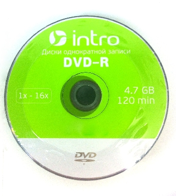 DVD-R  (25) 4,7GB Intro 16x shrink