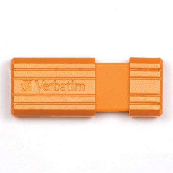 Flash Drive 16GB Verbatim Pin Stripe orange
