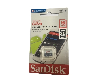 Micro SDHC 16 GB Sandisk class10 Ultra UHS w/o 80mb/s