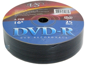 DVD-R  (25) 4.7GB VS 16x Shrink